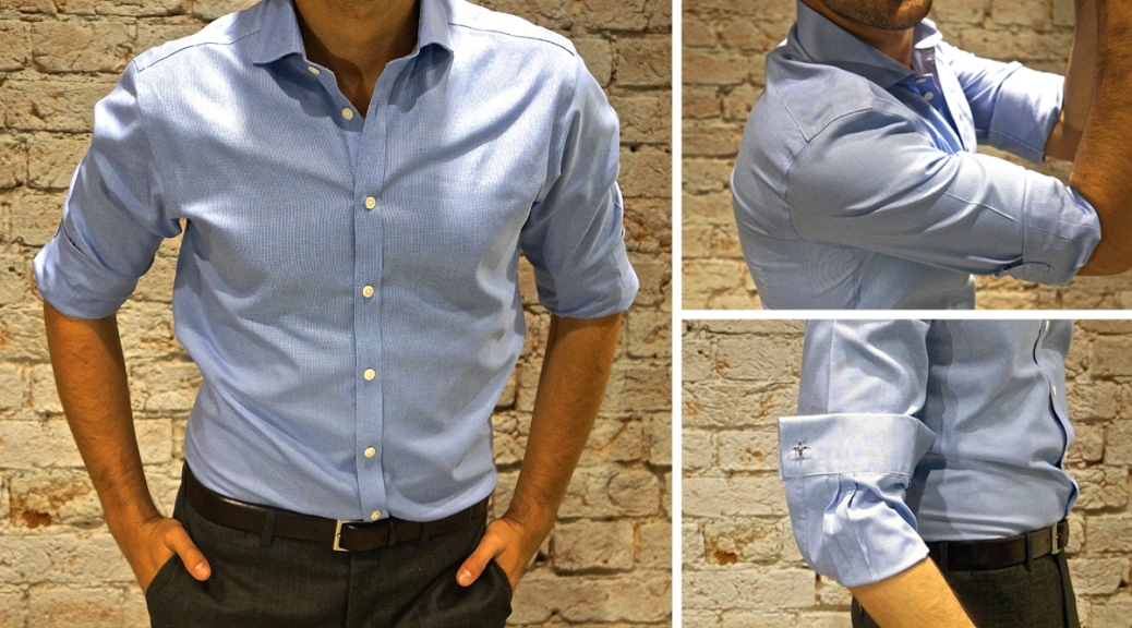 how to wear cufflinks on a normal shirt