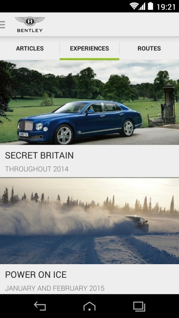 Bentley app screen experiences_High Res
