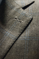 Lapel of the suit after tailor